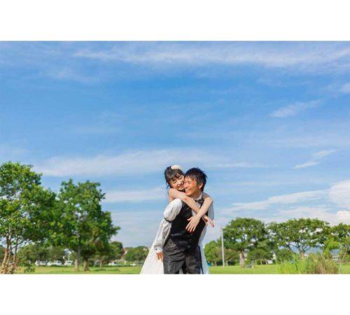 ロケ撮影 ウェディングフォト 結婚 熊本 二の丸公園