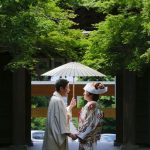 ウエディングフォト ロケ撮影 夏の神社