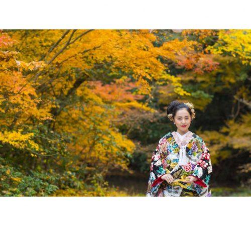 ロケーション撮影 四季 紅葉 結婚 着物